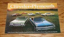 Original 1973 Chrysler Plymouth Full Line Sales Brochure 73 Barracuda Satellite