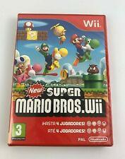 Nintendo Wii Super Mario Bros, Spanish/Portuguese, Brand New & Factory Sealed
