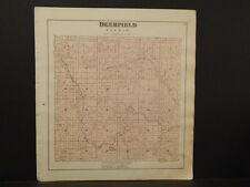 Michigan, Isabelle County Map, Deerfield Township  1879 Y5#83
