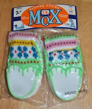 Vintage Infants Toddlers Tee Vee Mox Slipper Sox Sz 5 Age 1-1 1/2 Yrs Nip Nos