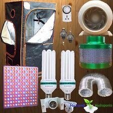"LED Panel 130w CFL Hydroponics Grow Tent Light Grow Setup Inline Fan Filter 4"""