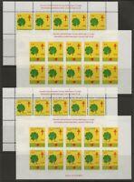 Denmark DJF 1972 Clover Leaf Xmas TB Seal Sheets 4 diff. Perf /Imperf VF-NH