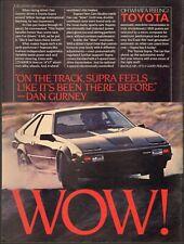 1982 Print ad for Toyota Supra`retro photo Black    (040719)