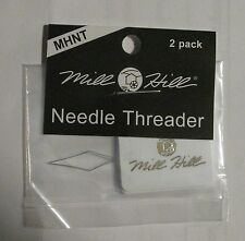 Needle Threader 2 pack  Mill Hill for fine needles embroidery small eye needles