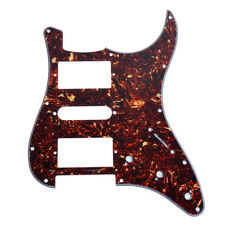 Guitar Pickguard Scratch Plate for Strat Parts Dark Brown Tortoise Shell HSH