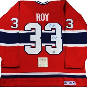 PATRICK ROY SIGNED CCM® JERSEY HOFw/COA Montreal Canadiens Autographed Authentic