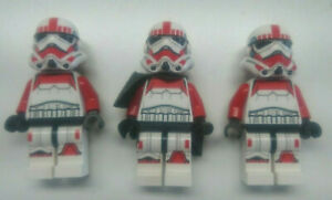 Lego Star Wars 3x Shock Trooper sw0692 75134 rot/weis Top Zustand 01/08-7