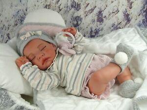 """Reborn Baby Puppe""""Josi""""Spielpuppe,Sammlerpuppe,Babypuppe,Reborn schlafend"""