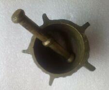 mini mortier et pilon laiton bronze hauteur 4cm sur 6x3cm 149g  .D9
