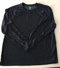 Athletic Works Dri More Men's Long Sleeve Crew Neck Blue Striped Shirt