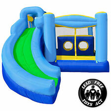 Mighty Bounce House - Quad Combo - Inflatable Kids Jumper without Blower