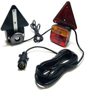 12V Beleuchtungssatz mit Magnet Beleuchtung Anhänger Trailer Rückleuchten Satz