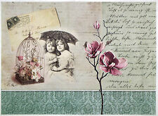 Rice paper -Childer umbrella and flower- for Decoupage Scrapbooking Sheet