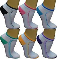 12 24 Damen Sneaker Socken Freizeitsocken Füßlinge Sportsocken gestreift bunt 15