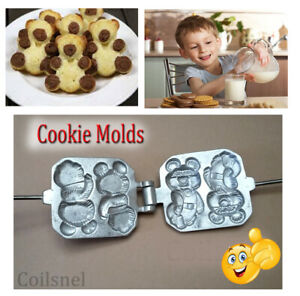 Mold for Sweet Russian Bear Gummy Maker Plate Baking Cookies Mold Press Form