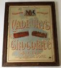 Cadburys Chocolate- Original Antique Victorian Advertising Mirror - Rare Royal