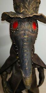 SALE! Original textile doll, Art work, Plague Doctor, Hand Made, Original Doll