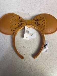 Disney Parks Faux Leather Minnie Mouse Ears Headband