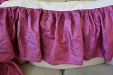PRETTY COLOR! Seventeen Full Double Magenta Berry Plum satin Bedskirt Pink