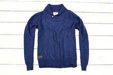 NEXT Herren Mens pullover Wolle Lammwolle Blau sweater jumper   L