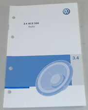 Manual de instrucciones de vw radio RCD 500 instalado en polo Golf Passat UVW. de 09/2005
