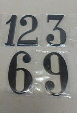 "LARGE Clock Numbers 3-6-9-12, 3"" high Black Modern, Wall clock, USA made"