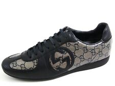 Gucci Low Top Sneakers Black GG Leather  Womens Sz US 8 EU 38 $680