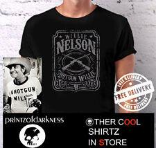 MENS BLACK Willie Nelson SHOTGUN WILLIE 1973 Vintage  S M L XL XXL  FREE POSTAGE