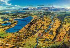 Landkarten-AK Landsberg am Lech, Ammersee, Starnbergersee, St.Ottilien Buchlohe