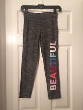 Girls Size Large GapFit Heathered Grey Yoga Pants Leggings Beautiful Exercise