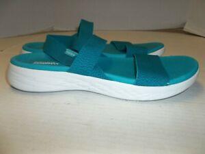 Womens Size 10 Skechers Goga Max Slingback Elastic Strap Sandals
