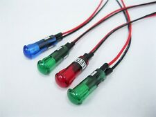 "3/8"" LED 12V Dash Indicator Light 2 Green 1 Blue 1 Red Turn Signal 4 Lights SET"
