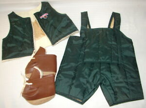 TEDDY RUXPIN'S WORLD OF WONDER ADVENTURE OUTFIT VEST, OVERALLS & BOOTS