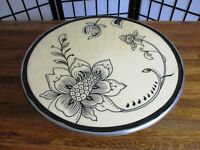 Art Nouveau Dessert Platter by Gorham 13 inches Round Black White 5 inches high