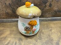 Vintage Large 1970s Sears Merry Mushroom Ceramic Kitchen Canister