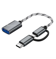 2 In 1 Type-C + Micro Usb USB3.0 Adapter Cable Data & Charging Cable Samsung