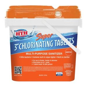 HTH Super 3 Inch Chlorine Tablets for Swimming Pool - 25 Lbs - Clorox Comparison