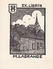 ✒ EX LIBRIS Marie LAGRANGE par André HERRY