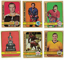 1972-73 OPC NHL Hockey Lot - Pick only the cards that you need - $1.25 each