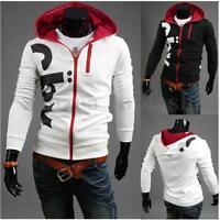 FASHION New Sexy Men's Top Designed Slim Fit Hoody Coat Jacket Zip Hoodies Tops