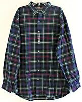 Polo Ralph Lauren Big & Tall Mens XLT Green Red Blue Plaid Flannel Shirt NWT XLT