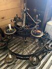 Spectacular Vtg. Spanish Revival Rustic Antique Wrought Iron 8 Light Chandelier