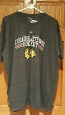 Chicago Blackhawks OLD TIME HOCKEY Vintage NHL Gray Mens XLarge Shirt  XL