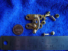 Swing hook bag clasp GOLD leather craft w/ rivets larp sca renaissance garb