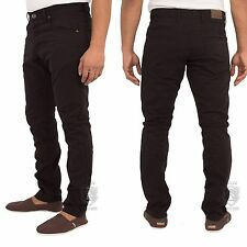 New Mens ENZO Skinny Chinos Slim Fit Blue Jeans Pants Trousers All Waist Sizes