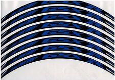 Suzuki 17'' Wheel stripe kit 3M material BLUE reflective GSXR by PRINT dcw-02