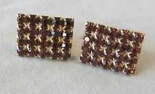 Men Vintage 20 Prong Set RUBY RED CRYSTALS each CUFFLINKS Jewelry KK58