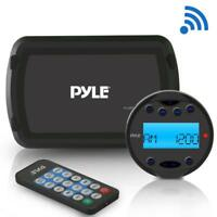Pyle PLMR93W Bluetooth Marine Stereo Radio Receiver System Weatherproof