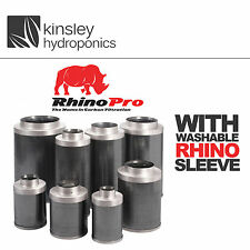"4"" 100mm Rhino Pro Carbon Filter For Professionals and Hobby Growers Hydroponics"