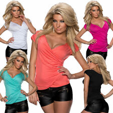 Hüftlange Kurzarm Damenblusen, - tops & -shirts für Party-Anlässe
